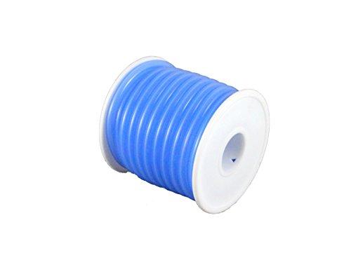 TopHobbyUS 1 Roll (16 ft) Blue Silicone RC Nitro Fuel Line Tubing D5.2xø2.5 ()