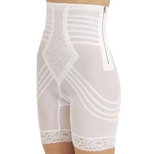 (Rago Style 6201 - High Waist Leg Shaper Firm Shaping, White, 3X/36)