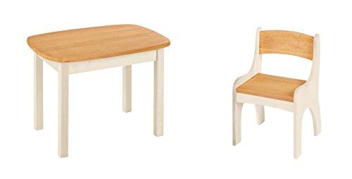 BioKinder 24788 Spar-Set: Levin Kindertisch mit Stuhl Massivholz