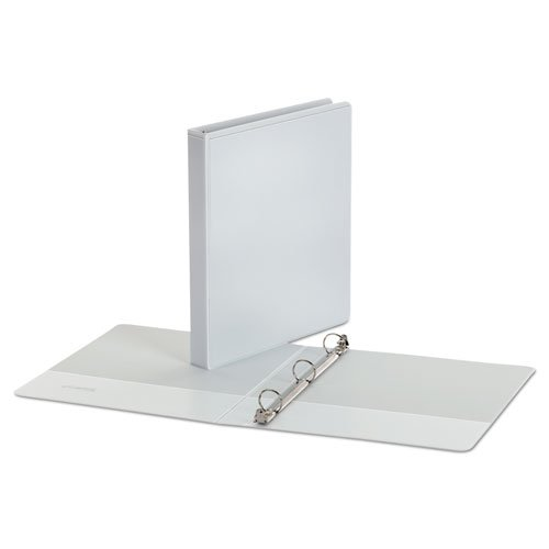 1InTheOffice 3 Ring Binder 1 inch, 1'' Capacity View Binder, 2 White & 2 Black by 1InTheOffice (Image #1)