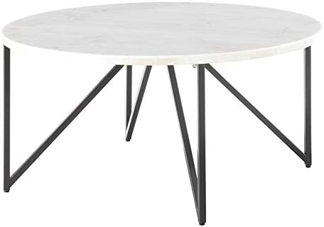 BOWERY HILL Round Marble Top Coffee Table