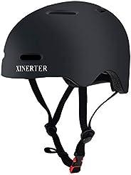 XinerTer Skateboard Helmet Kids Bike Helmet BMX Helmet, Multi- Sport Helmet with 1 Sets of Replaceable Pads, B