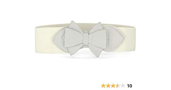 bow-beige powder Wide Decorative belt