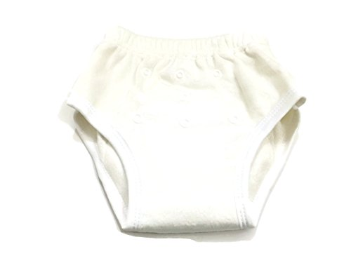 BB2 Soft Baby Toddler Potty Toilet Training Reusable Bamboo Pants (One Size (14lbs to 32lbs), White)
