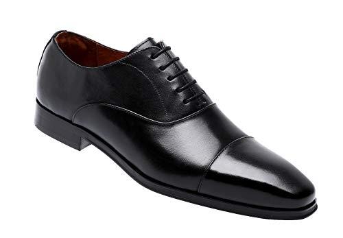 Men's Cap Toe Dress Shoes Lace up Oxford Shoes for Men (12 M US, ()