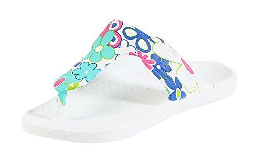 CLEOSTYLE modernas Mujer Zapatillas Sandalias Zapatillas baño Mocasines Chanclas de dedo CL 296 Turquesa / 5