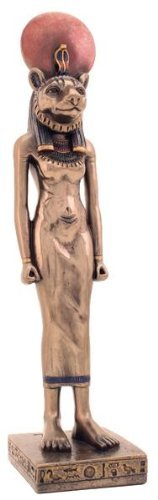 9 Inch Mystical Egyptian Art Design Sekhmet Figurine Statue Sculpture Sekmet