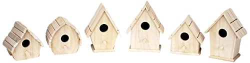Darice 9180 08 Sparrow Birdhouse Assorted