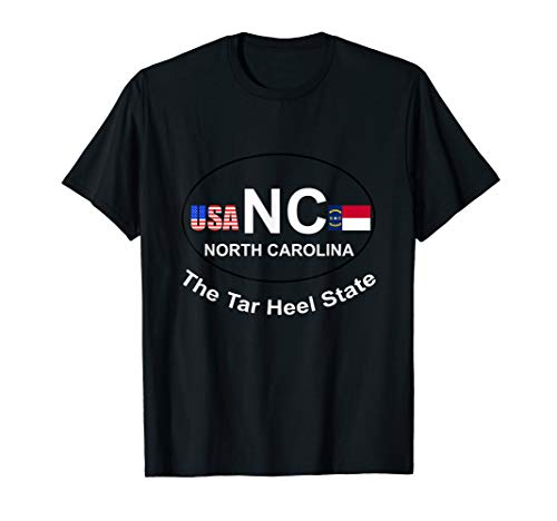 North carolina, the tar heel state tshirt flag fun gift ()