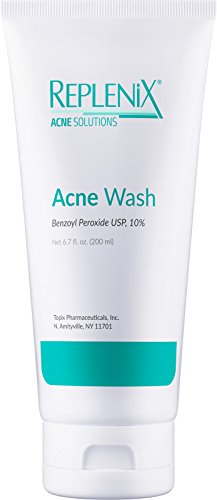 Replenix 10% Benzoyl Peroxide Wash, Advanced Acne Cleanser for Face and Body, 6.7 oz.