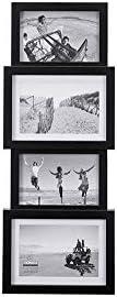 Malden International Designs 8306-40 Collage Picture Frame, 4 Option, 2-4×6 & 2-5×7, Black