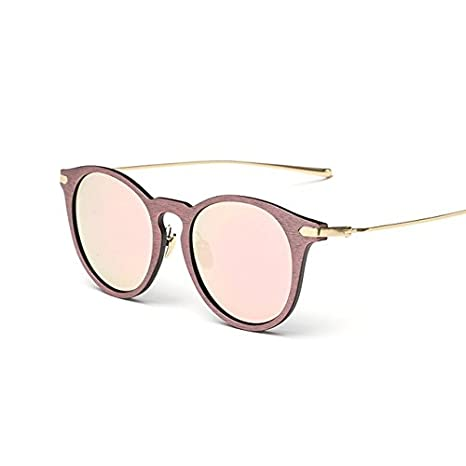 92787fb26c2 Amazon.com   Buildent(TM) Imitate Gold Wood Male Sunglasses Women Brand  Designer Frames Vintage Sunglasses Female Sun Glasses for Women Oculos De  Sol   Pink ...