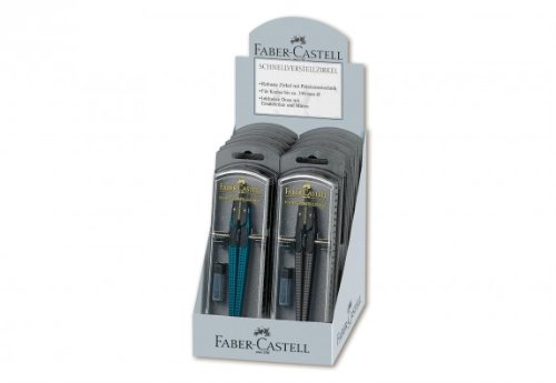 Faber-Castell FABER-C. Zirkel Grip 2001, sch, petrol & schwarz sortiert (... A.W. Faber-Castell