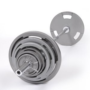 Troy 500 lb. Olympic Weight Set with VTX Grip Plates