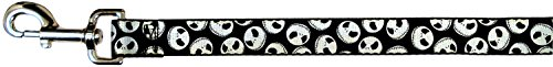 Nightmare Before Christmas Costumes For Dogs (Buckle-Down Dog Leash - Nightmare Before Christmas Jack Expressions Scattered Black/White)
