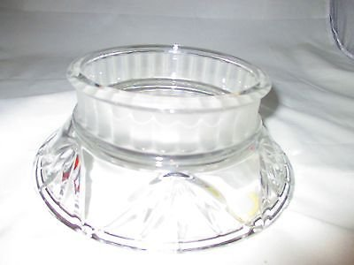 Marquette Gorham Reversible Candle - Holder Crystal Candle Gorham