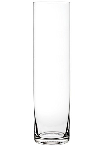 - Afloral Clear Glass Cylinder Floor Vase - 24