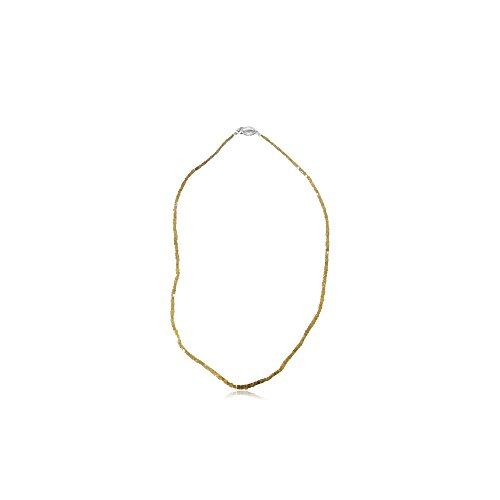 19.00 Cts Graduated Square Shaped Bead Natural Yellow Diamond Strand Necklace in 14K White (Diamond Square Strand)