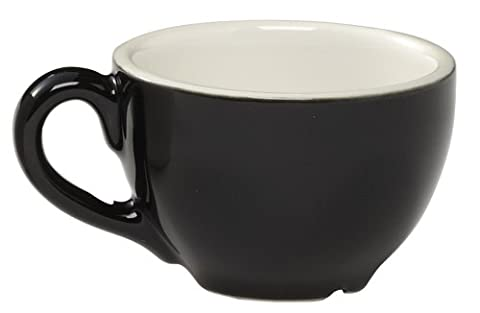 Rattleware 8-Ounce Cremaware Cup, Black, 6-Pack - 8 Ounce Cafe Mug