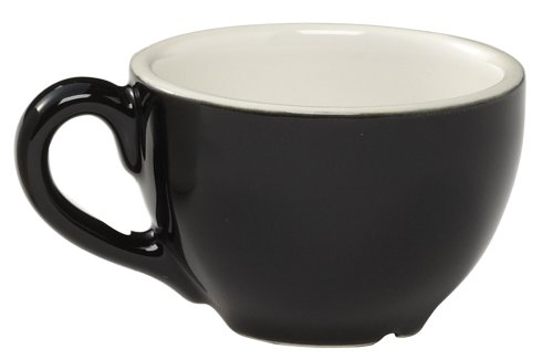 Rattleware 8-Ounce Cremaware Cup, Black, 6-Pack