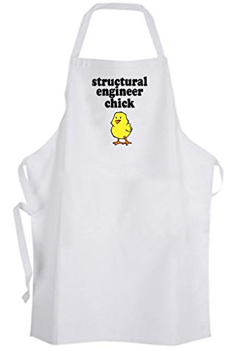 Structural Engineer Chick – Adult Size Apron - Girly (Engineer Bbq Funny Apron)
