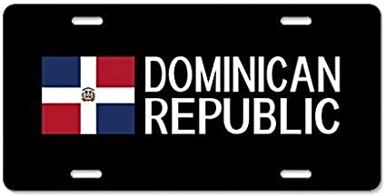 Dominic Art Decor License Plate Tin Sign Home House Coffee Beer Drink Bar 6 x 12 Inch Frame Dominican Republic