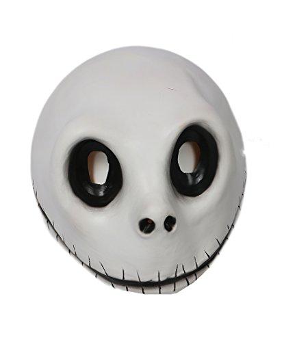 [Skellington Mask White Latex Mischievous Full Head Jack Cosplay Masque Xcoser] (Jack Skellington Mask)