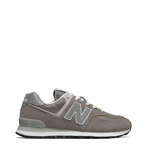 New Balance Mens 574 Core Grey Suede/Mesh Sneaker - 12 D