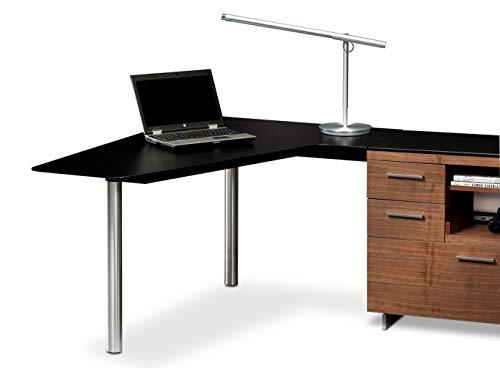 BDI 6018L Sequel Left-facing Peninsula Desk, Black ()