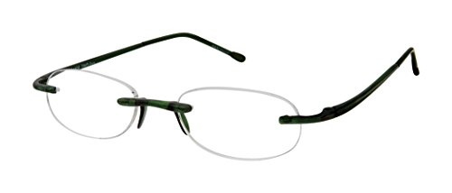 - Gels Lightweight Rimless Fashion Readers - The Original Reading Glasses for Men & Women - Jade (+1.50 Magnification Power)