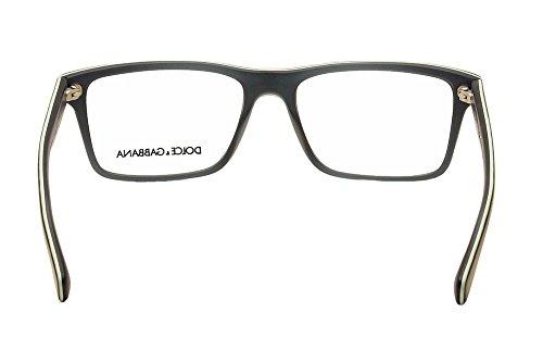 Dolce & Gabbana Montures de lunettes 3207 Pour Homme Black On Grey, 53mm 2867: Tortoise On Matte Petroleum