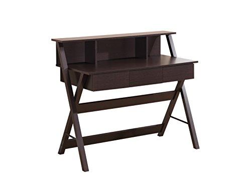 Techni Mobili Fashionable Workstation with Shelf and Storage in Wenge ()