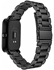 Stainless Steel Watch Band for Xiaomi Amazfit Bip Square Watch - Black Without Watch , 2724680275999