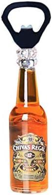 Sacacorchos Creativo Mini 3D Abrebotellas de Cerveza Personalidad del hogar Bebida Abrebotellas Refrigerador Barra de Barra Pegatinas magnéticas Decoración 3PCS (Color : D)