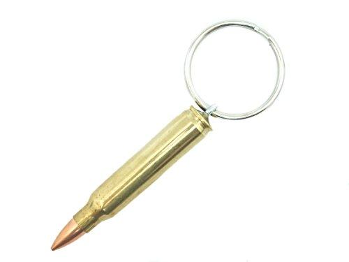 223 Cal M-16 & AR-15 Brass Bullet Keychain ()