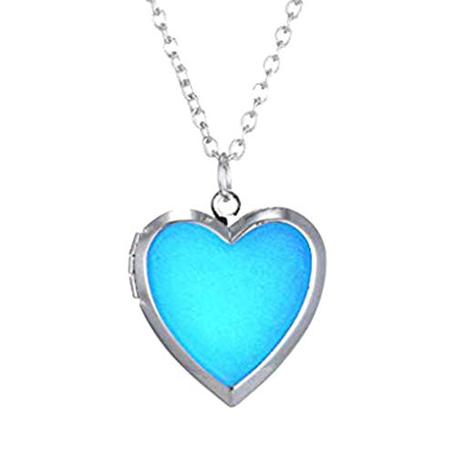 CliPons Fashion Heart Shaped Color Change Mood Pendant Charm Necklace Emotion Jewelry for - Bullet Pendant Shaped