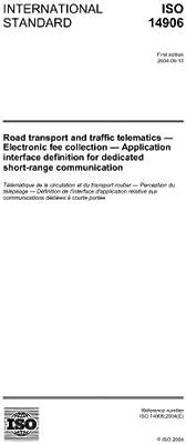 Amazon com: ISO 14906:2004, Road transport and traffic