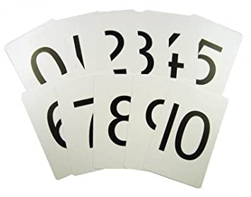 number cards 0 to 10 maths educational flash cards amazon co uk