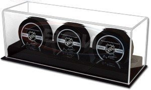 BCW Acrylic Base Triple Puck Display (Acrylic Nhl Hockey Puck)