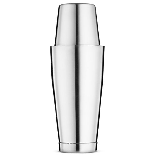 Bartender Boston Cocktail Shaker Set - Silver - Includes 28oz & 18oz Cocktail Shaker 18/8 Durable Food Grade Stainless Steel Bar Shaker Set, Built with Heavy Weighted Shaker Tins For - Ounce Bar 28 Shaker