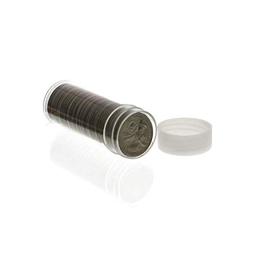 round clear plastic w// screw on tops for DIMES COIN STORAGE TUBES Quantity of 25 tubes