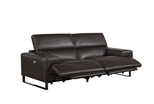 Jamie Living Demarco Power Leather Reclining Sofa (Top Grain Leather Settee)
