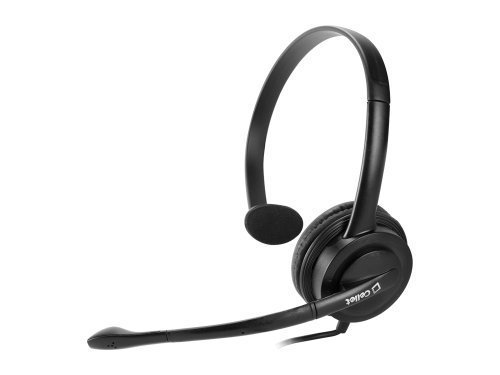Premium Over The Head 3.5mm Monaural Headset for music players, personal computers, mobile phones, etc. by Cellet