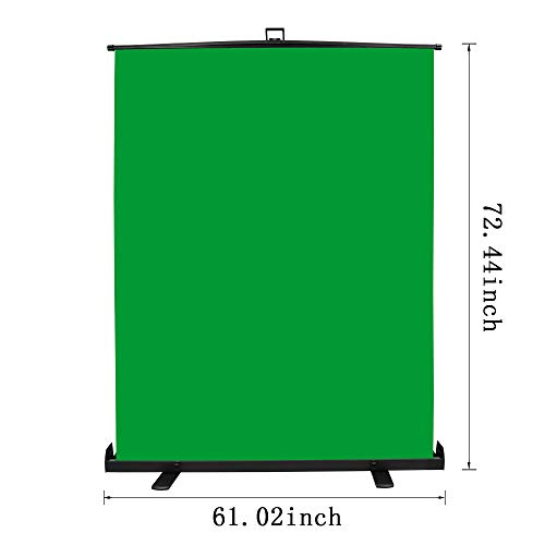 Emart Green Screen, Collapsible Chromakey Panel for Photo Backdrop Video Studio,Portable Pull Up Wrinkle-Resistant Greenscreen Background, Auto-Locking Air Cushion Frame, Solid Safety Aluminium Base by EMART (Image #2)