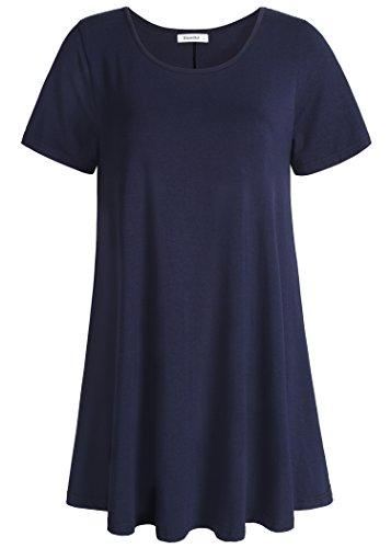 Esenchel Women's Tunic Top Casual T Shirt for Leggings M ()