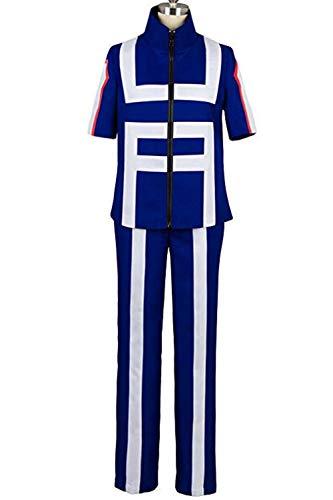 Boku No Hero Academia My Hero Academia Izuku Midoriya Costume Training Suit Uniform Sportswear Navy ()