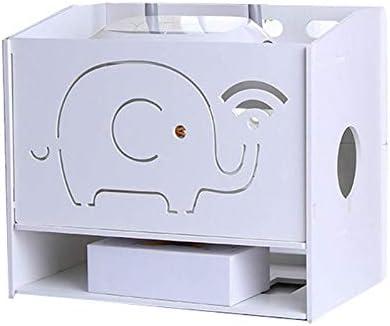 RETYLY Organizador Estante WiFi Router Oficina Casa De 3 Capas Caja De Almacenamiento Router De Tirón para Router -Medio: Amazon.es: Hogar