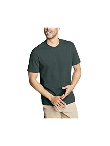 Eddie Bauer Men's Legend Wash Classic Pro Short-Sleeve T-Shirt, Evergreen Regula Eddie Bauer Short Sleeve Shirt