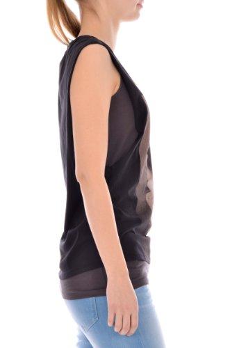 Maison Scotch - Camiseta sin mangas - para mujer negro