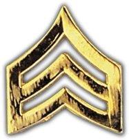 Army Sgt Stripes (Gold)